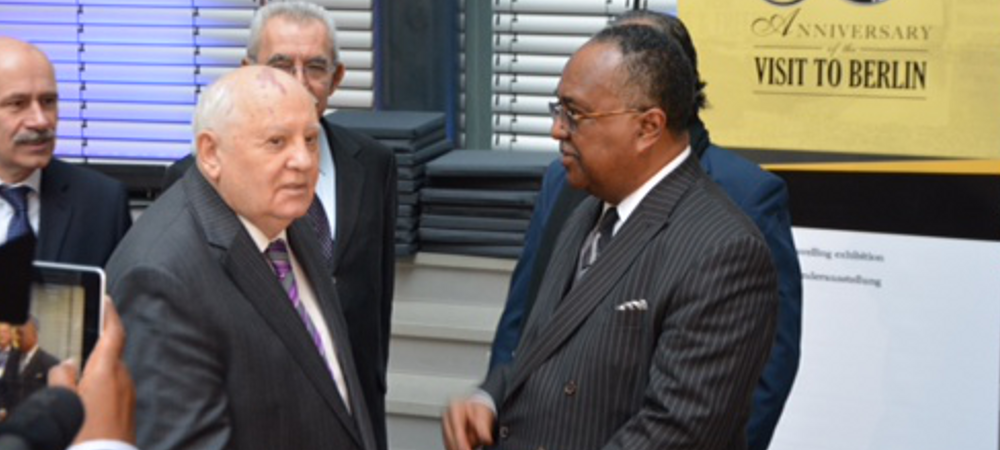 Dr. Charles Steele, Jr & Former Soviet Union President Gorbachev